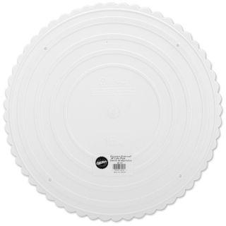 Decorator Preferred Cake Plate16in Scalloped Round   17627220