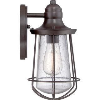 Quoizel MRE8406WT Marine 11 1 2 1 Light Incandescent Outdoor Wall Sconce in Western Bronze