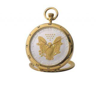 Coinwatch Silver Dollar Eagle Pocket Watch —