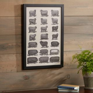 Birch Lane Livestock Study Framed Print