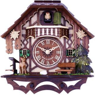 Musical Cottage Cuckoo Wall Clock by River City Clocks