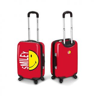 "Smiley Half Face 30"" Carry On Spinner Bag   7962722"