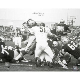 Dick Butkus Chicago Bears  Authentic Autographed 16 x 20 Packer Pile Photograph with HOF 79 Inscription