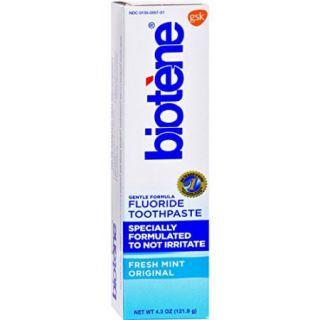 Biotene Fresh Mint Original Fluoride Toothpaste, 4.3 oz