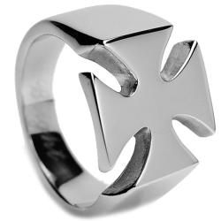 Oliveti Stainless Steel Mens Cast Cross Ring  ™ Shopping