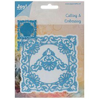 Ecstasy Crafts Joy! Crafts 4 x 4 Cut & Emboss Die, Ornate Square Frame & Delicate Corners