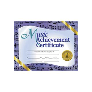 Music Achievement Certificate by Hayes School Publishing