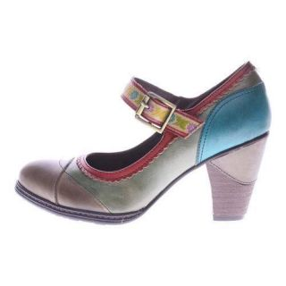 Womens LArtiste by Spring Step Getaway Mary Jane Gray Multi Leather