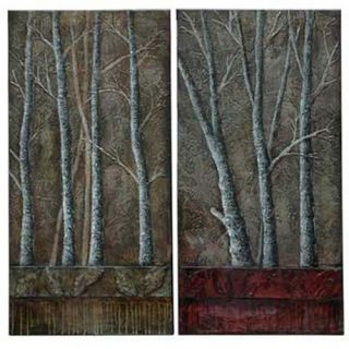 Crestview Collection 2 Piece Trees Stretched Painting Print on Canvas