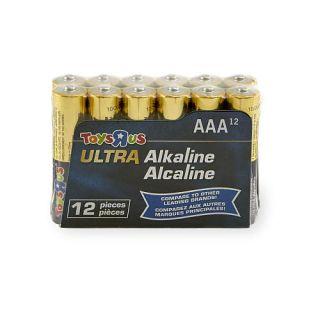 Toys R Us Toys R Us AAA Ultra Alkaline Batteries   12 Pack   TVs
