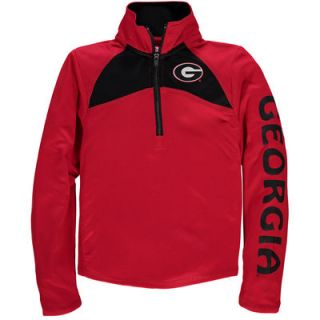Georgia Bulldogs Colosseum Girls Youth Flyer 1/4 Zip Jacket   Red