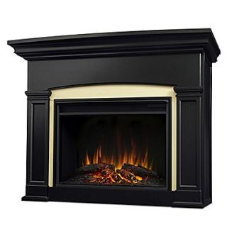 Real Flame Holbrook Grand Electric Fireplace; Black