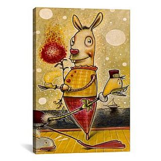 iCanvas Sparkle Bunny by Daniel Peacock Painting Print on Canvas; 40 H x 26 W x 0.75 D