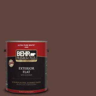 BEHR Premium Plus 1 gal. #S G 780 Spiceberry Flat Exterior Paint 430001