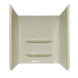 Style Selections Shower Surrounds Biscuit Shower Wall Surround Side and Back Panels (Common: 34 in; Actual: 53 in x 34 in)