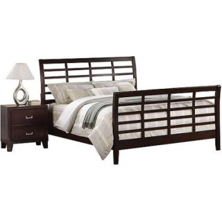 Acme Preston Queen Sleigh Bed, Cappuccino
