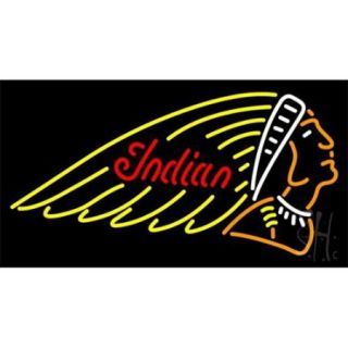 Sign Store N100 3543 Indian Motorcycles Neon Sign, 37 x 20 x 3 inch