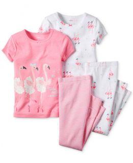 Carters Baby Girls 4 Piece Pink Flamingo Pajama Set   Pajamas   Kids
