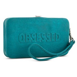 Obsessed Cell Phone Wallet with Removable Wristlet Strap   Teal
