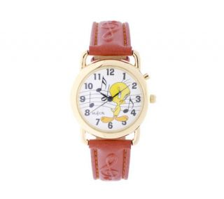Tweety Bird Musical Character Watch with WhiteDial —