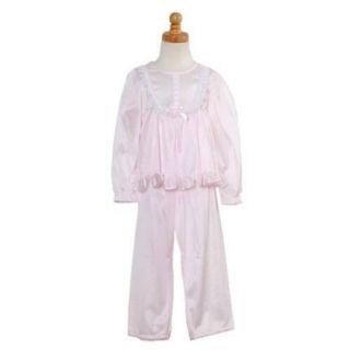 Laura Dare Toddler Little Girls Size 2T 10 Pink Ruffle Lace Pajama Set