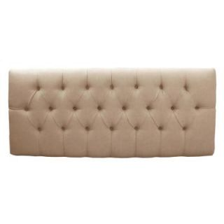 Home Decorators Collection Tivoli Oatmeal Microsuede Button Tufted Queen Headboard 542POAT