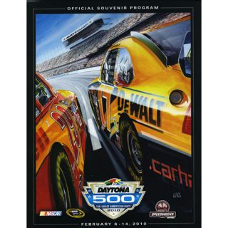 52nd Annual 2010 Daytona 500 Canvas 22 x 30 Program Print