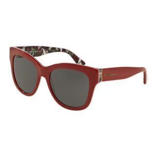 Womens DG4270 302087 Red Plastic Square Sunglasses   18770409