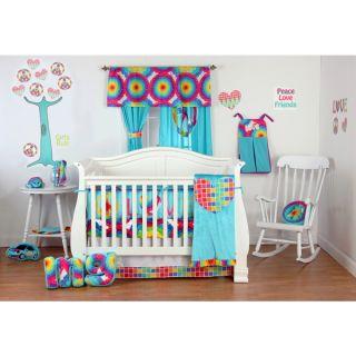 Girls Terrific Tie Dye 4 piece Crib Bedding Set   16734950