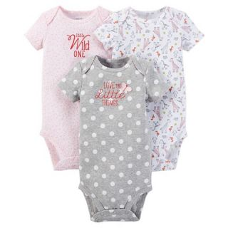 Just One You™ Made by Carters® Baby Girls 3 Pack Bodysuit   Pink