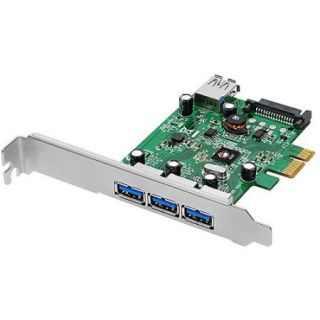 SIIG Dual Profile PCI Express 4 Port SuperSpeed USB 3.0 Host Adapter
