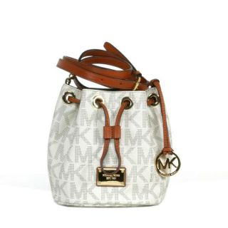 Michael Kors Jet Set Travel Vanilla Signature Phone Crossbody Handbag