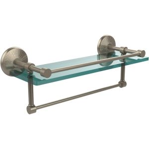 Allied Brass MC 1TB 16 GAL PEW Monte Carlo Antique Pewter  Vanity & Glass Shelving Bathroom Accessories