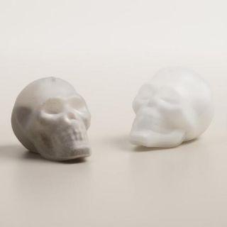 Doomed Glass Skull Salt and Pepper Shaker Set