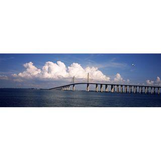 iCanvas Panoramic Suspension Bridge Across the Bay, Sunshine Skyway