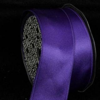 "Purple Satin Wired Craft Ribbon 1.625"" x 44 Yards"