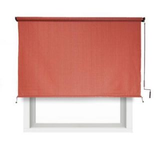 Coolaroo 80% UV Block Cordless HDPE Terracotta Exterior Roller Shade   96 in. W x 72 in. L 462000