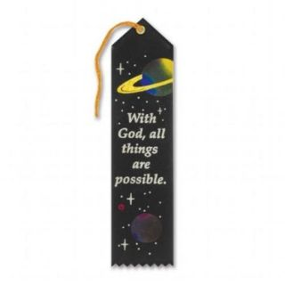 With God, All Things Are Possible Ribbon Case Pack 6
