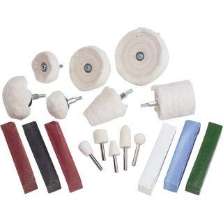 Grip Deluxe Polishing Kit — 18-Pc. Set, Model# 86340