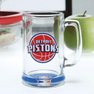Detroit Pistons 16oz. Clear Bottom Mug with Decal