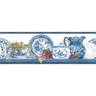 Blue Mountain Blue Willow Wallpaper Border