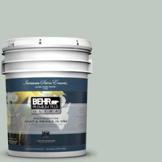 BEHR Premium Plus Ultra 5 gal. #N420 2 Mountain Falls Satin Enamel Interior Paint 775005