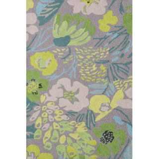 Hooked Hot House Spring Micro Green Floral Area Rug by Dash and Albert