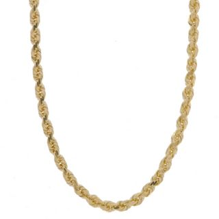 14k Yellow Gold DC Rope Necklace (24 in.)   10540328