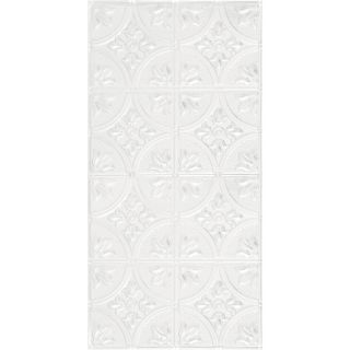 Armstrong Metallaire White Patterned Surface Mount Panel Ceiling Tiles (Common: 48 in x 24 in; Actual: 48.5 in x 24.5 in)