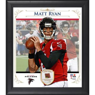 Matt Ryan Atlanta Falcons  Authentic Framed 15 x 17 Composite Collage with Piece of Game Used Football Limited Edition of 250
