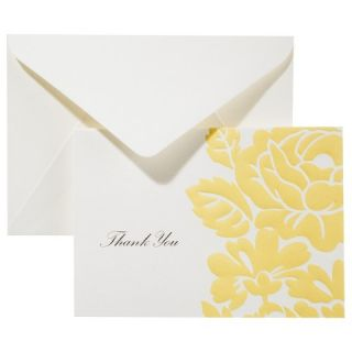 Anna Griffin Thank You Card Pack   Yellow Floral 50ct