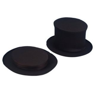 Adults Collapsible Top Hat   Black