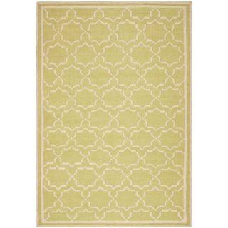Safavieh DHU545C Dhurries Wool Flatweave Light Green Ivory Rug