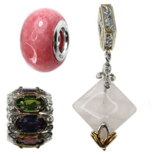 Michael Valitutti Sterling Silver Cubic Zirconia Hand Carved Cameo and